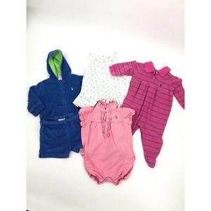 Ralph Lauren Girls Baby Outfit Lot Vintage 6 & 9 M